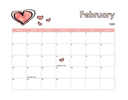 download cute february 2018 calendar clipart calendar 0 1