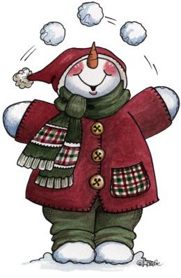 雪人剪辑圣诞图形雪人剪辑艺术