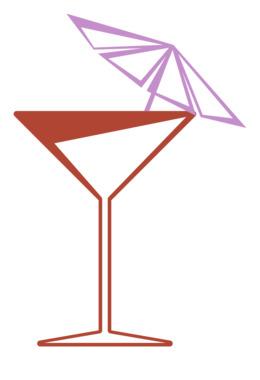 马提尼玻璃剪纸艺术马提尼鸡尾酒杜松子酒