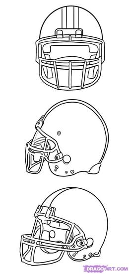 download football helmet drawing front view clipart american