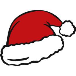 圣诞帽卡通剪贴画剪贴画圣诞老人图