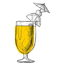 喝柠檬鸡尾酒