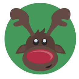 圣诞节剪辑驯鹿圣诞老人剪辑艺术