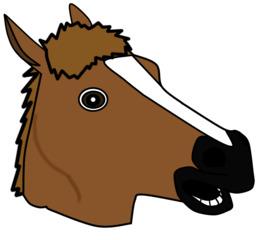 马头卡通剪辑小马美国画马野马