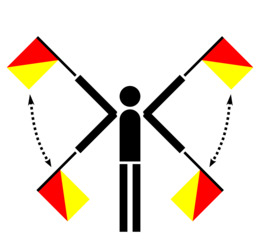 信号量旗帜注意剪纸艺术国际海事信号国旗国旗信号量剪贴画