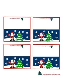 圣诞地点设置卡片剪贴表设置地点卡