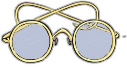 旧眼镜png剪纸艺术眼镜剪贴画