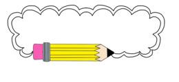 铅笔框剪辑边框和框架剪辑艺术