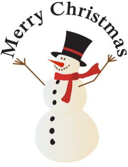 圣诞快乐雪人剪辑雪人圣诞节剪辑艺术