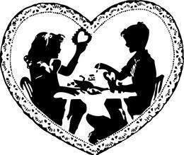 Download Vintage Valentine Clip Art Black And White Clipart Vintage