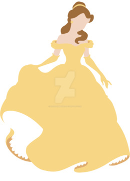 迪斯尼公主美女矢量剪纸艺术美女野兽灰姑娘