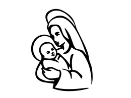 Thank You For Downloading Mary Mother Of God Sketches Clipart Colouring Pages Coloring Book Assumption