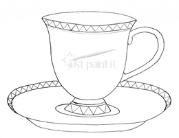 Download tea cups template png clipart teacup coloring book maxwellsz