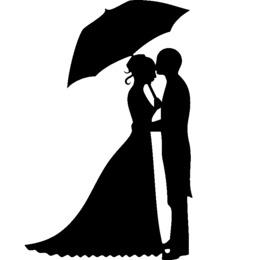 婚礼蛋糕顶端剪影新郎和新娘,丙烯酸蛋糕顶部