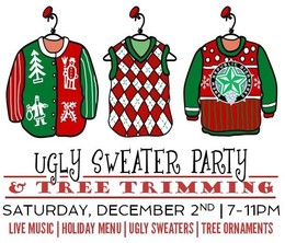 Ugly christmas sweater contest. Download party clipart jumper