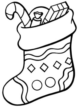 christmas stocking coloring page clipart santa claus rudolph colouring pages