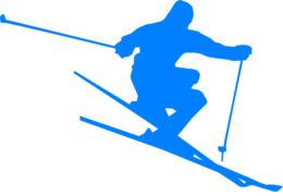 ski  blue clipart Skiing Clip art