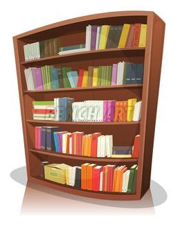 Download Bookshelf Cartoon Clipart