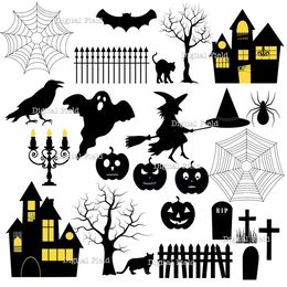 Download Halloween Tree Silhouette Templates Clipart Clip Art
