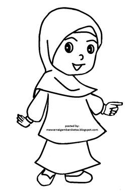 Download Mewarnai Orang Muslim Clipart Muslim Islam Coloring Book