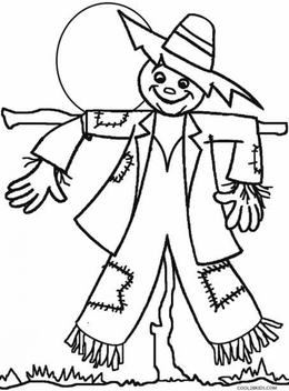 Download scarecrow coloring pages clipart Coloring book Colouring ...