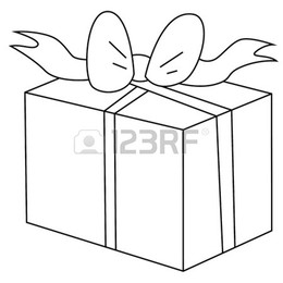 Download Gift Box Cartoon Black And White Clipart Black And White