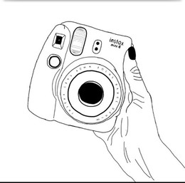 Download Polaroid Camera Coloring Page Clipart Instant Instax Clip Art