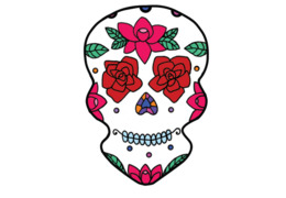 foto de Calavera Day of the Dead Decal Skull Die cutting skull png download 700*700 Free