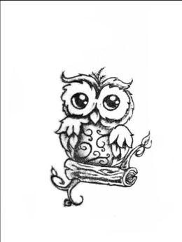 Download Baby Owl Tattoo Design Clipart Owl Drawing Tattoo
