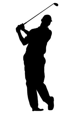 Golf Silhouette Line Graphics Font Png Clipart Free Download