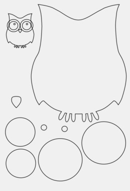 owl template clipart owl paper template