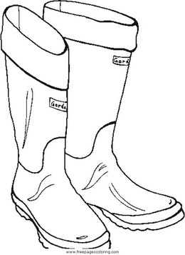 Download Boots Coloring Page Clipart Coloring Book Cowboy Boot Snow Boot
