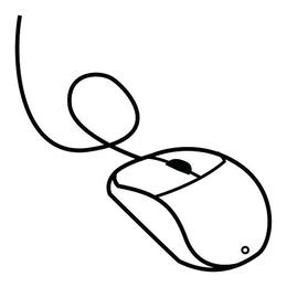 Download Computer Mouse Coloring Pages Clipart Keyboard Book