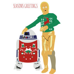 download star wars christmas card clipart c 3po r2 d2 clip art