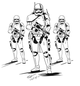 Download First Order Stormtrooper Coloring Page Clipart Stormtrooper