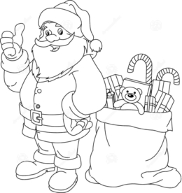 download santa claus colouring pages clipart santa claus coloring book drawing