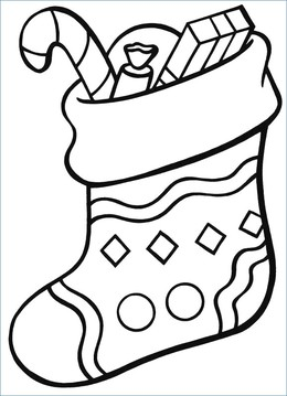 download christmas stocking coloring page clipart santa claus colouring pages rudolph