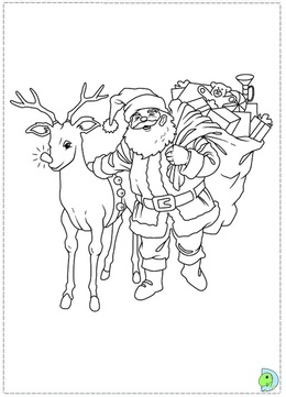 download santa coloring pages clipart santa claus coloring book reindeer