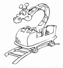 Download Roller Coaster Coloring Page Clipart Amusement Park - Roller-coaster-coloring-page