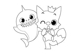 Download Gambar Baby Shark Untuk Mewarnai Clipart Baby Shark