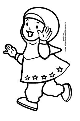 Download Mewarnai Gambar Anak Sekolah Tk Clipart Coloring Book