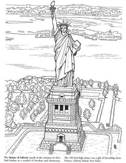 Download Statue Of Liberty Colouring Pages Clipart The Book Coloring
