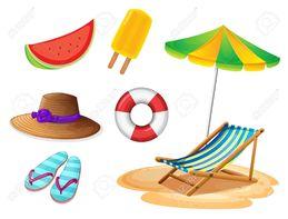 download objetos de playa animados clipart beach royalty free