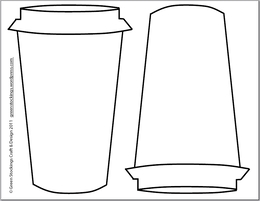 Download cup cozy template clipart Cafe Coffee cup sleeve