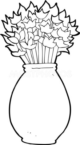 Download Cartoon Drawing Flowers Vase Clipart Flower Drawing Clip Art