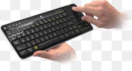 Logitech控制器无线2.4 GHz键盘-触摸板剪贴画电脑键盘谷歌电视Logitech