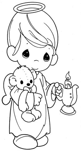 Download dibujo de angel para colorear clipart Coloring book Angel ...