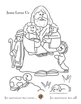 Download Jesus Loves Children Coloring Pages Clipart Book Teaching Of About Little