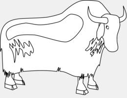 Domestic Yak Cartoon Clip Art Plateau Cliparts Png Download 800