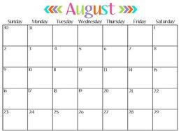 Online Calendar Template | Download August Calendar Template Clipart Online Calendar 0